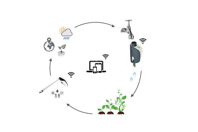 reducir consumo de agua de un jardín con un riego eficaz